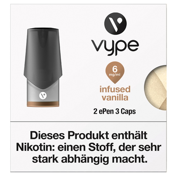 VYPE ePen3 Caps Infused Vanille | 2 Caps