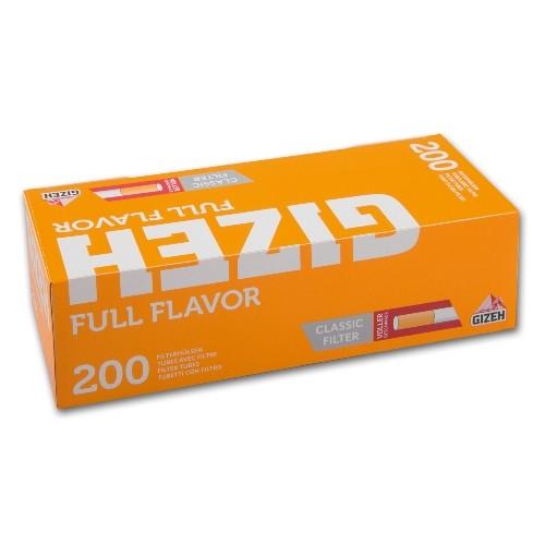 GIZEH Hülsen gelb 200 Stück | 5er Pack