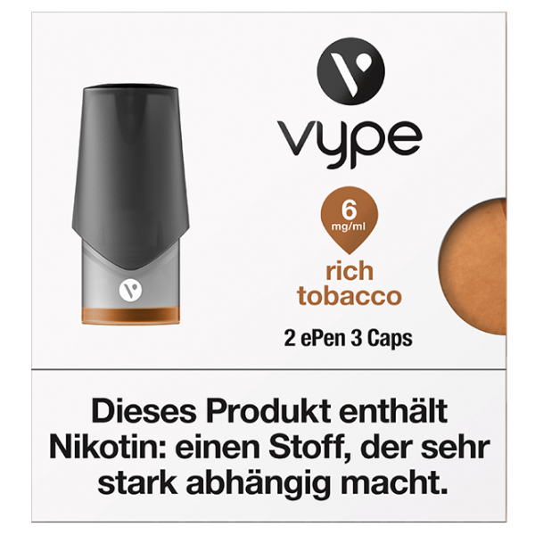 VYPE ePen3 Caps Rich Tobacco | 2 Caps