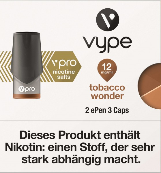 VYPE ePen3 Caps vPro Tobacco Wonder | 2 Caps