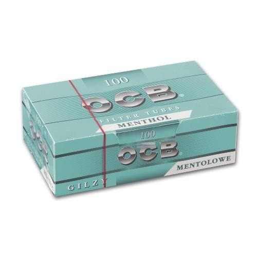 OCB Menthol Hülsen 100 Stück | 5er Pack