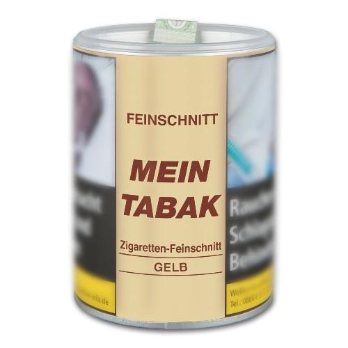 Mein Tabak Zigaretten Feinschnitt Gelb