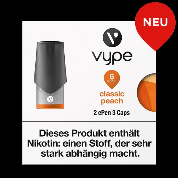 VYPE ePen3 Caps Classic Peach | 2 Caps