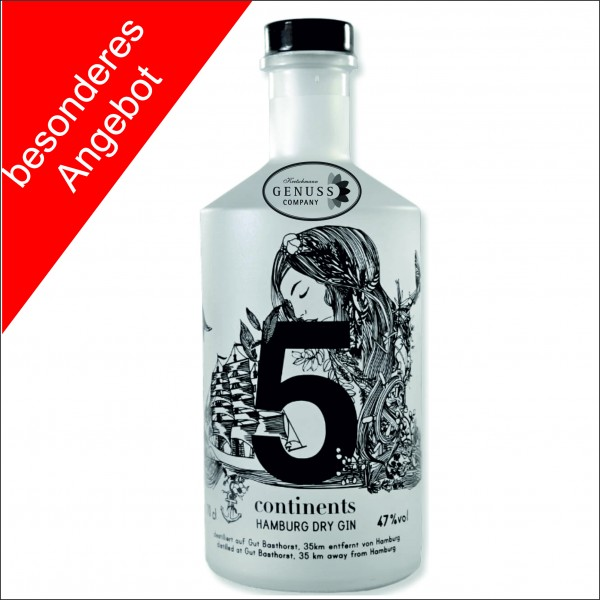 Gin 5 Continents HH Dry Gin | 47% Vol. | 0,7l