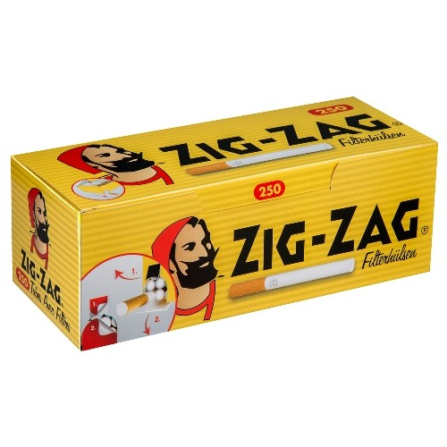 ZIG ZAG Hülsen 250 Stück | 4er Pack