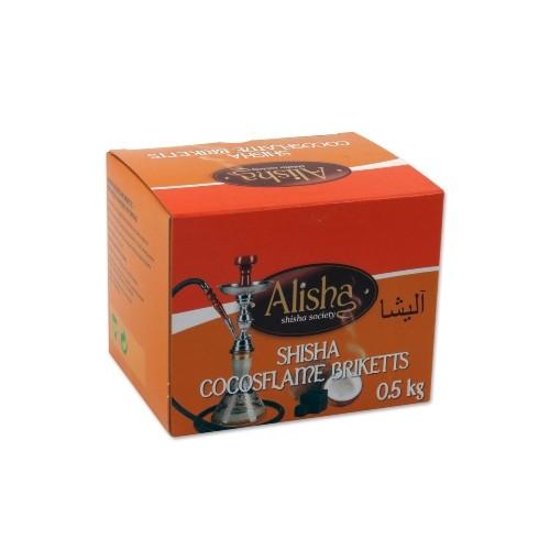 Wasserpfeifenkohle ALISHA Briketts Cocosflame 500 g