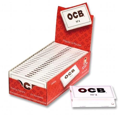 OCB Filigran No 4 kurz weiß 25 x 100