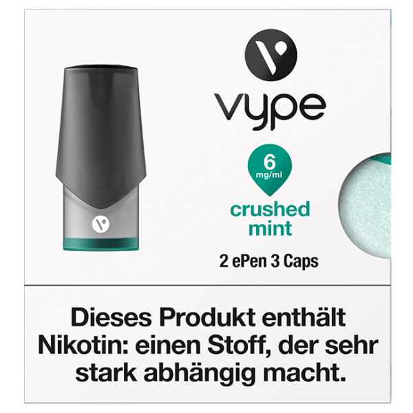VYPE ePen3 Caps Crushed Mint | 2 Caps