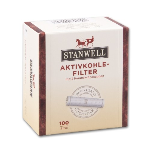Pfeifenfilter STANWELL Aktivkohle 9 mm 100 Stück