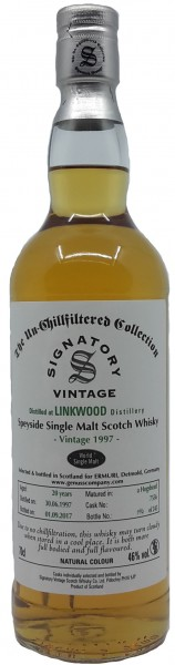LINKWOOD 1997 | 20 Jahre | 46% Vol. | Eigenabfüllung