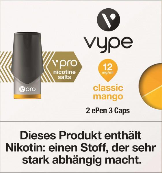 VYPE ePen3 Caps vPro Classic Mango   2 Caps