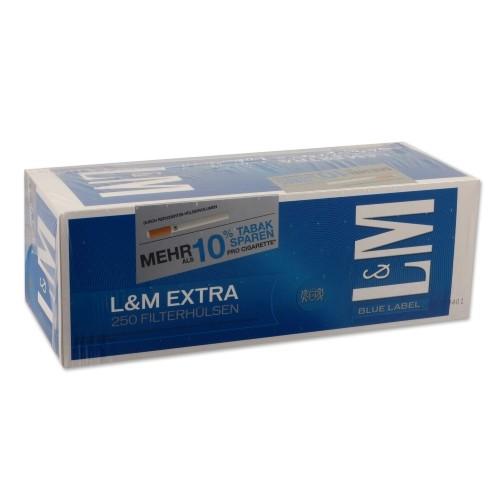 L&M Extra Filterhülsen Blue Label 250 Stück | 4er Pack