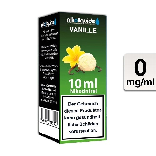 E-Liquid NIKOLIQUIDS Vanille 0 mg